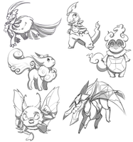 Bunch Of Pokemon Fusions