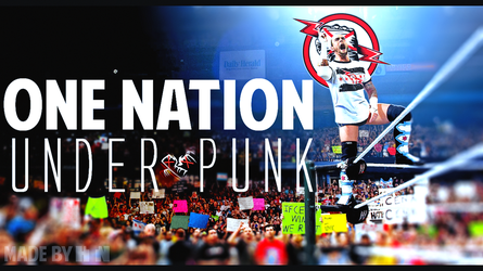 CM Punk Wallpaper: One Nation Under Punk by HTN4ever