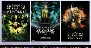 Spectra Psyclus posters 1, 2 and 3 by R1Design