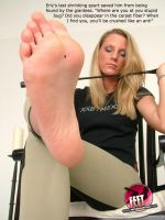 Nearly Crushed and Now Stuck To Her Sole by youranus32
