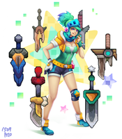 lol_Arcade riven by Nanghyang