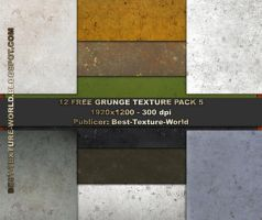 12 Hi Res Grunge Texture Pack5 by haziran87