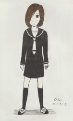 My main oc in a sailor fuku by TheARTIST-4