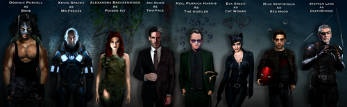 Batman Villains DCEU FanCast by Tony-Antwonio