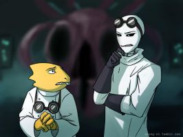 Gaster smelled danger by Azany