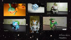 Pokeman figures by MidnightRarity