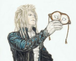 Goblin King with a barn owl mask by gagambo