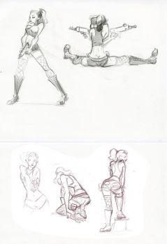 Army Gal Life Drawing 3 by victoriaying