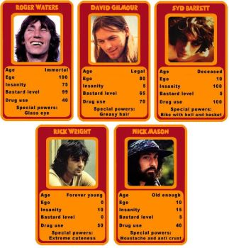 Pink Floyd Cards by Sheraton-Gibson