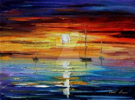 Sunrise by Leonid Afremov by Leonidafremov