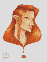 Collab: ACOTAR Lucien! by Lauralina