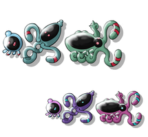Squeeble, Jentell, Collashell by iceroy