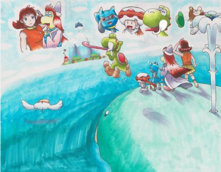 Y-M-P Crossover Part 9: Travel to Yoshis Island by animefan-no1