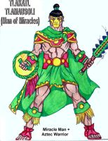 Mister Miracle + Aztec -Mexica- Warrior by RODMAN75