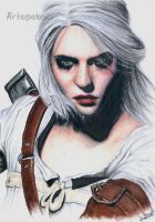 Ciri form The Witcher by Anna655