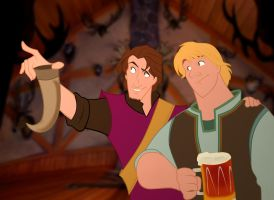 Flynn Rider and  Kristoff by lukasgamma