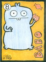 Artist Trading Card - Babo #8 by tedbergeron