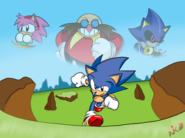 Sonic CD tribute by NkoGnZ