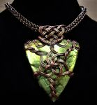 Queen of Asgard Celtic Knot Unisex Necklace by DeeArtist321