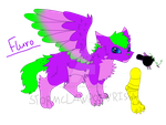 Broken Down Cats and Dogs: Fluro by StormClawPonyRises