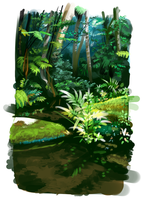 Rainforest Study 05 by le-mec