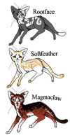 More Warriors Adopts for TBB(WTA|Open) by anime4always