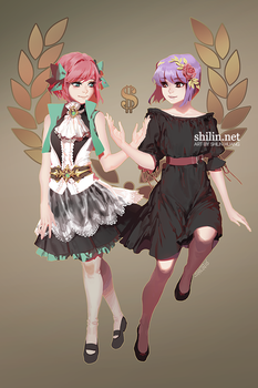 Liliahn and Weirin by shilin