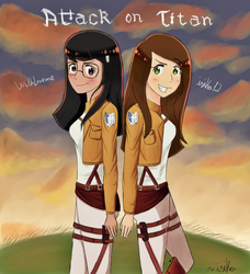 WithLoveme and me -Attack on Titan- by isika12