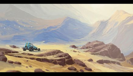 Buggy and Mountains by rickystinger88