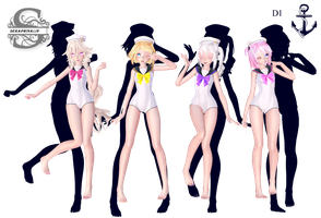Tda Kawaii Sailor Swimsuit : DL !! by Evelyn-sama
