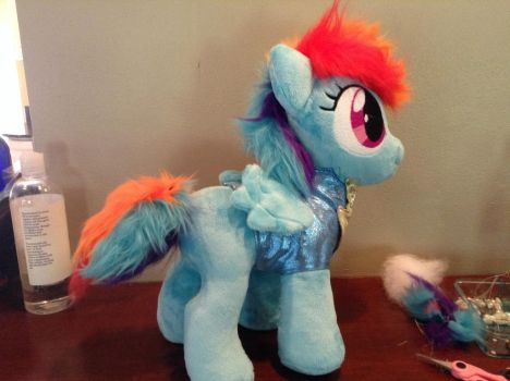 WIP filly Rainbow dash by Littlestplushoppe