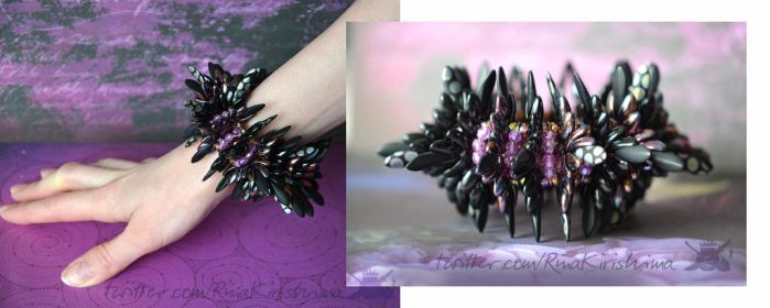 Black Thorn Bracelet by AlterDoll