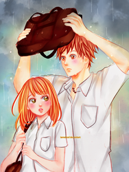 Orange - Suwa y Naho [SpeedPaint] by IAMeikoD