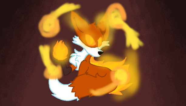 Fire Fox by insanitywolfartist26