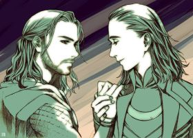 Thor And Loki by SilverMarbles