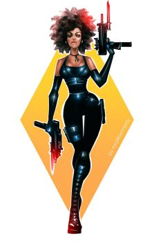 Deadpool - Domino by maXKennedy