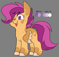 redesign AU: Scootaloo by taaffeiite