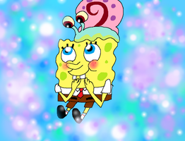 Spongebob and Gary by PurfectPrincessGirl