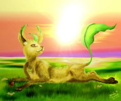 Detailed Leafeon by Jade-Viper