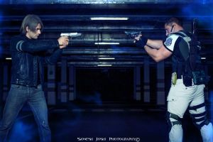 Leon and Chris - Resident Evil 6 Cosplay by Leon C by LeonChiroCosplayArt