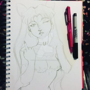 Older Chibi Usa Sketch WIP by xXPink-Kitten1023Xx