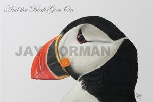 And the Beak Goes On-- Puffin by artofMilica