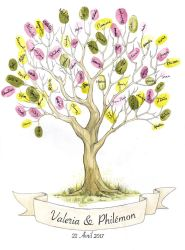 Wedding Fingerprint Tree by delia-lama