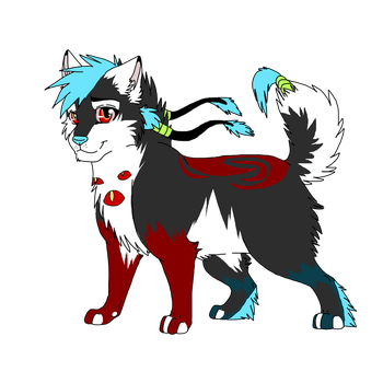 Commission :Bloodsplatter pup 5 by Mana-ghostwolf
