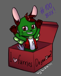 I love furries (100 box) by lizathehedgehog