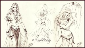 Lasya - Dancing and sketches by Mavelle-Ealenyr