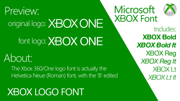 Xbox Logo Font by simalary44