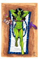 She-Hulk at the beach by montrosity