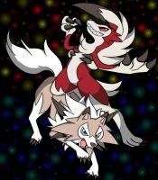 Lycanroc Duo by DarkrexS