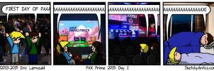 PAX Day 1 by SketchyAntics